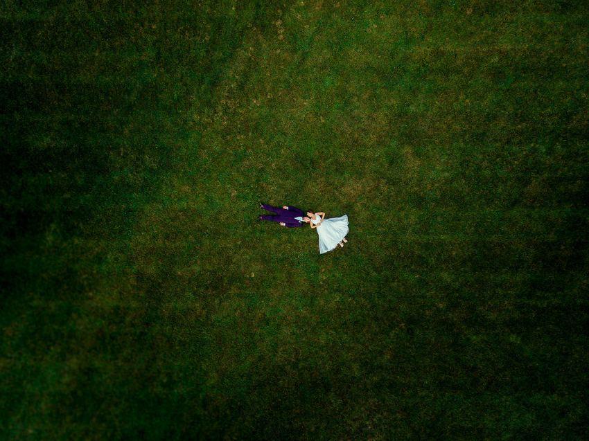 wyndridge farm wedding drone photo by Washington DC Wedding Photographer Adam Mason