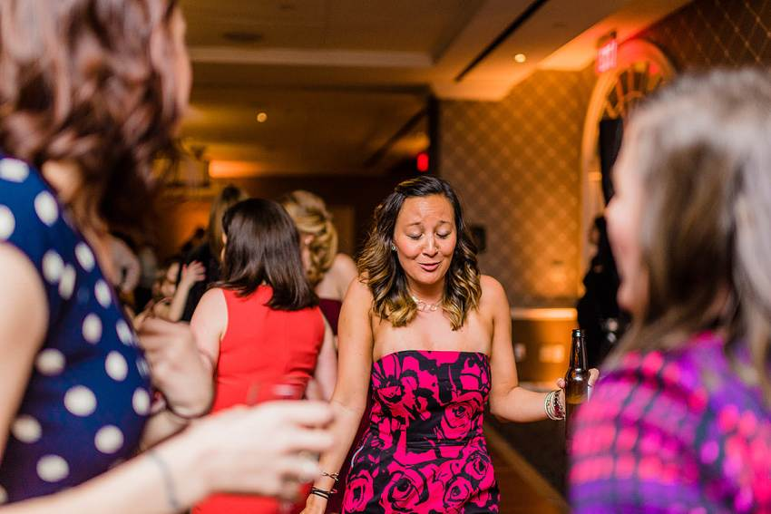 dancing at alexandrian hotel wedding by Washington DC Wedding Photographer Adam Mason