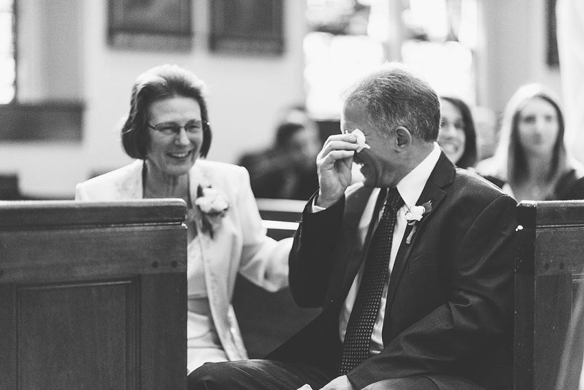 mom and dad crying at wedding by Washington DC Wedding Photographer Adam Mason
