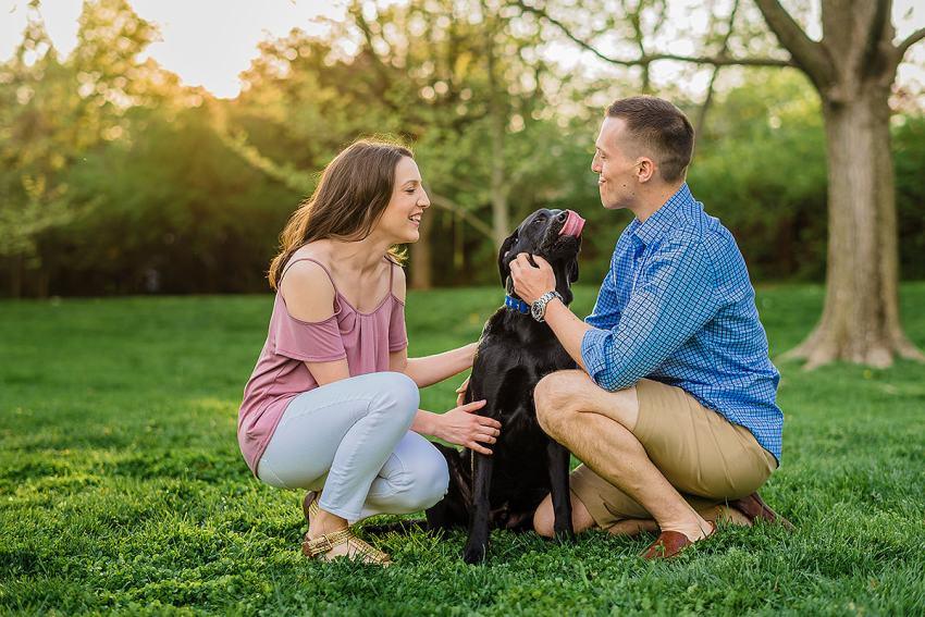 washington DC engagement session with dog by Washington DC Wedding Photographer Adam Mason