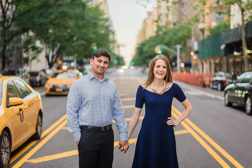 Upper West Side Amsterdam Avenue engagement session by Washington DC Wedding Photographer Adam Mason
