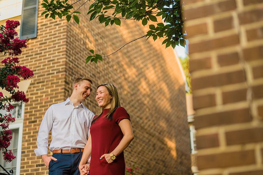 historic old town Alexandria engagement session by Washington DC Wedding Photographer Adam Mason