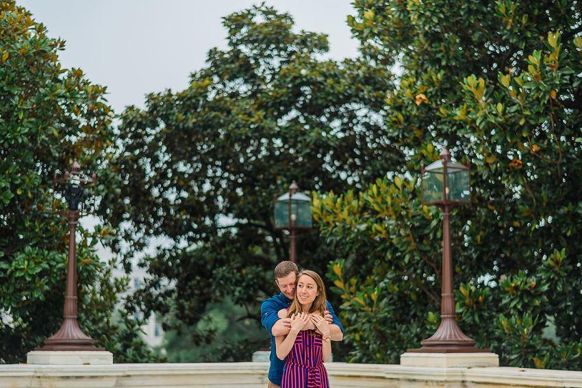 speaker's balcony engagement photos at the U.S. Capitol by Washington DC Wedding Photographer Adam Mason