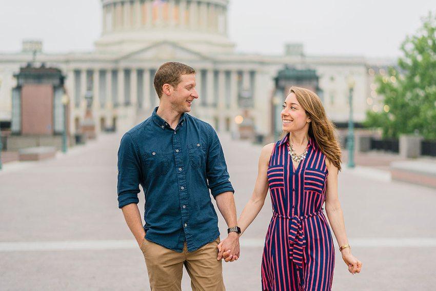 U.S. Capitol Engagement photos by Washington DC Wedding Photographer Adam Mason