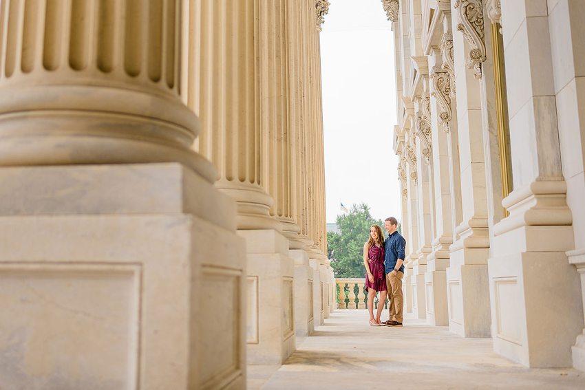 exclusive Washington DC views during U.S. Capitol engagement session by Washington DC Wedding Photographer Adam Mason