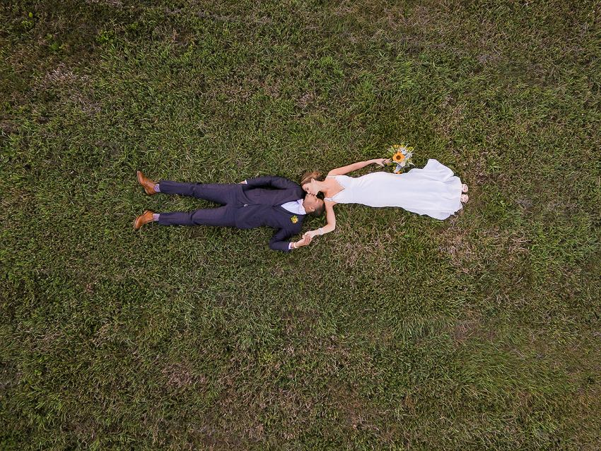 drone wedding photo at wyndridge farm by Washington DC Wedding Photographer Adam Mason