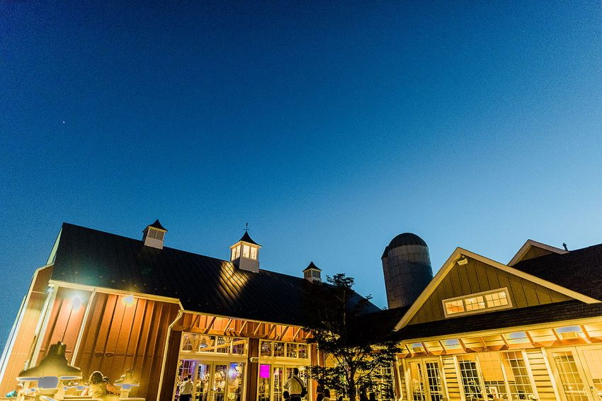 wyndridge farm brewery wedding hours at sunset by Washington DC Wedding Photographer Adam Mason