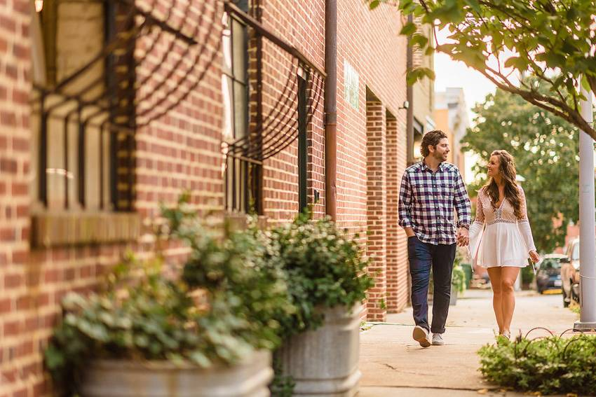 federal hill engagement photos in downtown baltimore by Washington DC Wedding Photographer Adam Mason