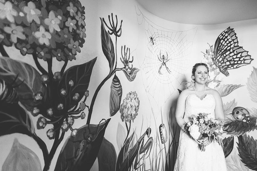 bride portrait at irvine nature center wedding by Washington DC Wedding Photographer Adam Mason