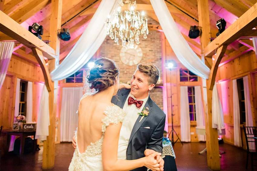 bride dancing with brother at at thousand acre farm wedding by Washington DC Wedding Photographer Adam Mason