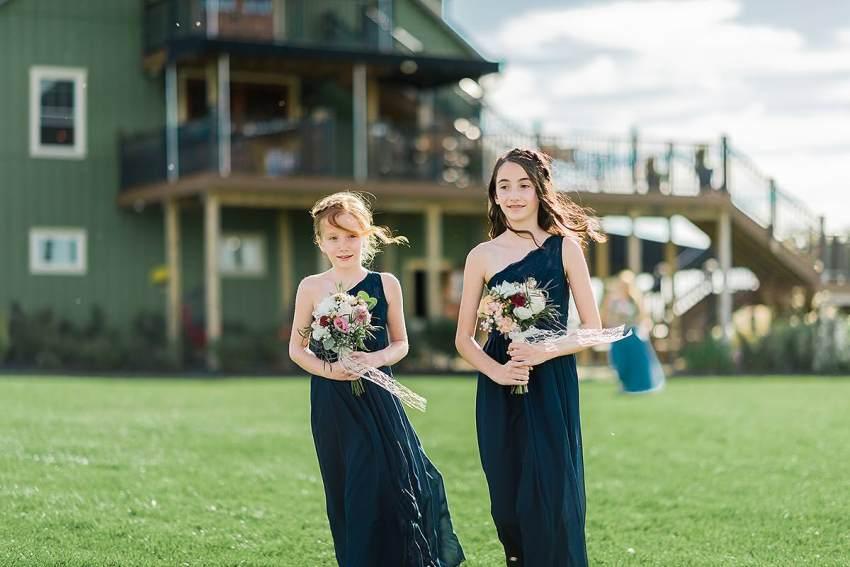 junior bridesmaids at thousand acre farm wedding by Washington DC Wedding Photographer Adam Mason
