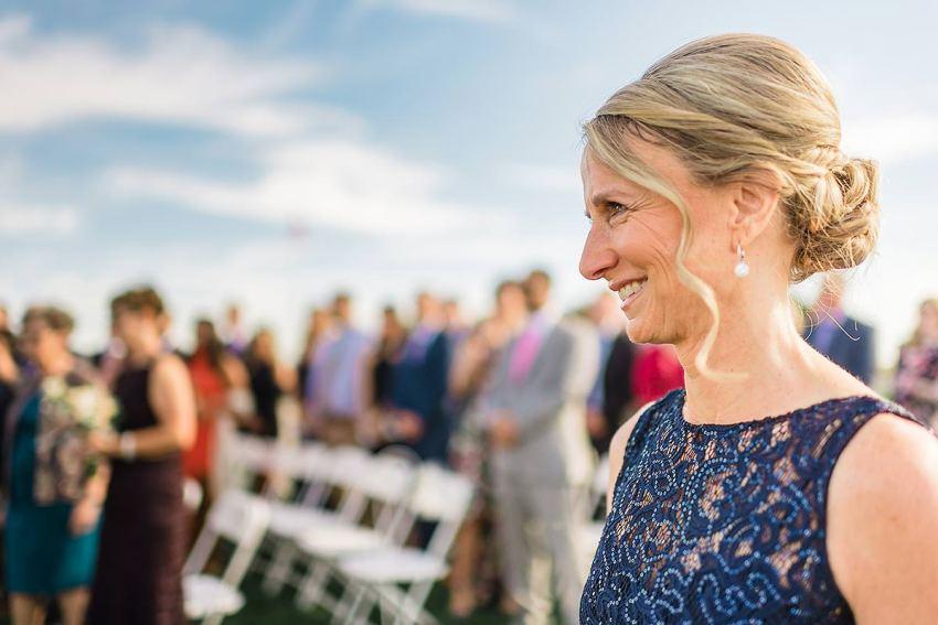 mom seeing daughter at thousand acre farm wedding by Washington DC Wedding Photographer Adam Mason