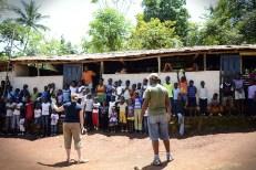 Rebecca Hug Teaching in Jacmel, Haiti