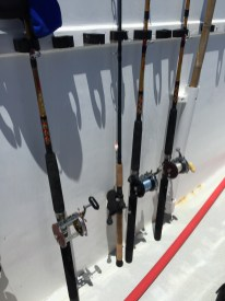 Our rods and reels after a day on the water