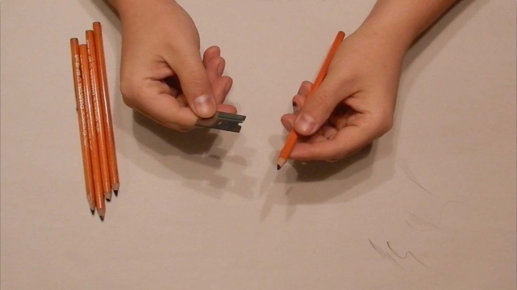How To Sharpen Charcoal Pencils Process 1