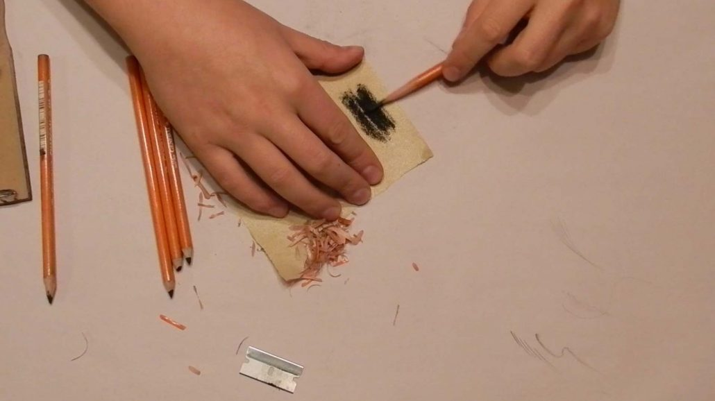 How To Sharpen Charcoal Pencils Process 3
