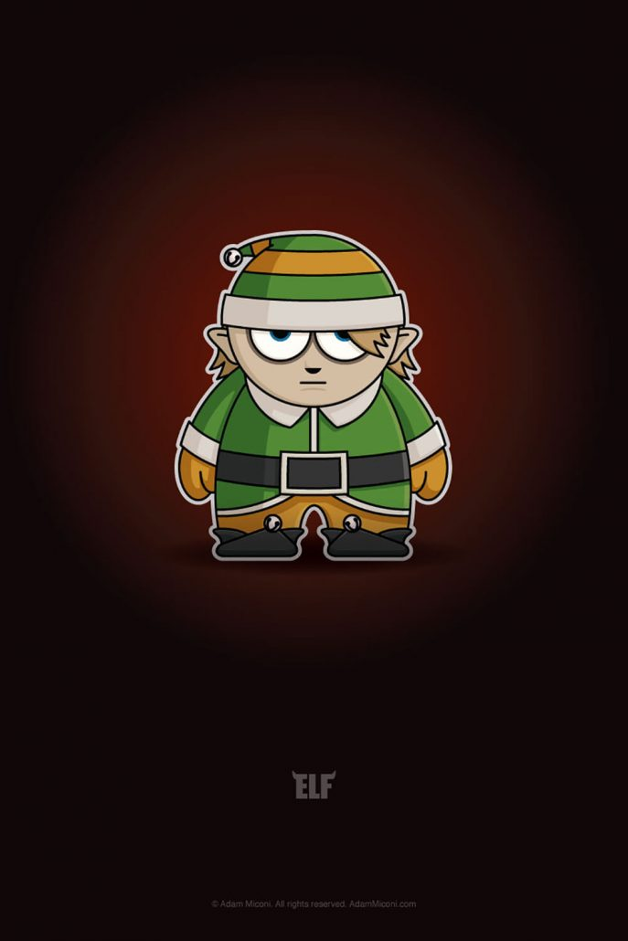 Christmas Elf Chibi By Adam Miconi