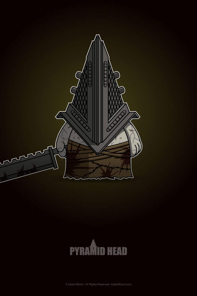 Silent Hill Pyramid Head Chibi by Adam Miconi