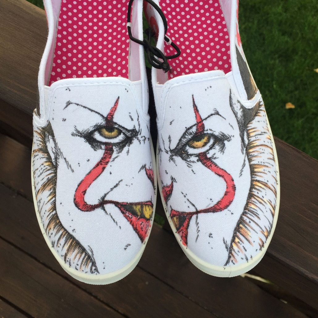 Hand Drawn Pennywise Shoes