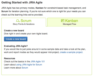 Agile Getting Started page