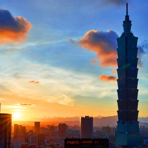 Sun Rising Over Taipei 101