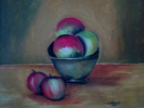 L_Clay Bowl of Fruit