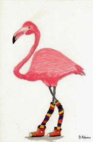 P_Pink Flamingo_watercolors_da_8-28-2012-2
