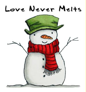snowman love-love never melts-white - Copy - Copy