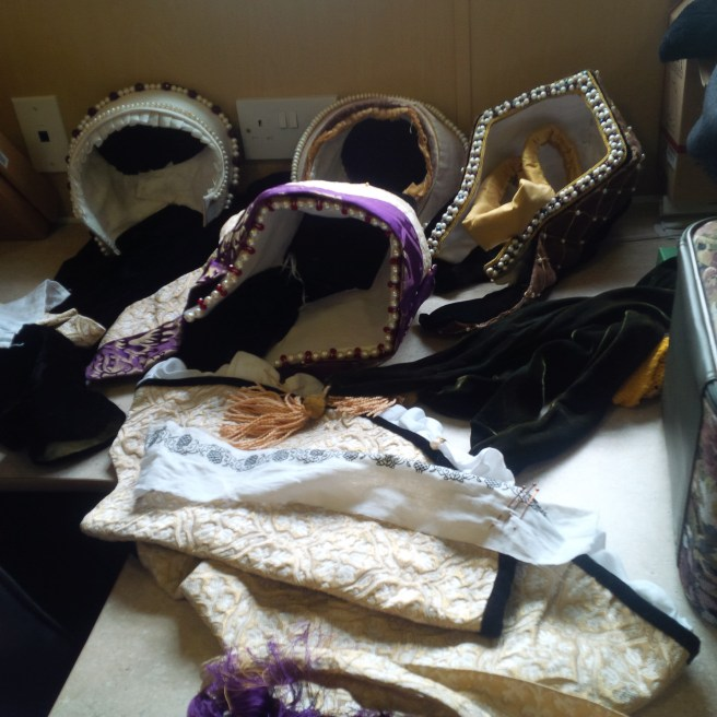 Tudor accessories we brought on the set