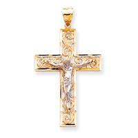 2 tone crucifix C2015