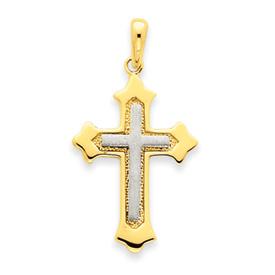 2 tone crucifix D1559