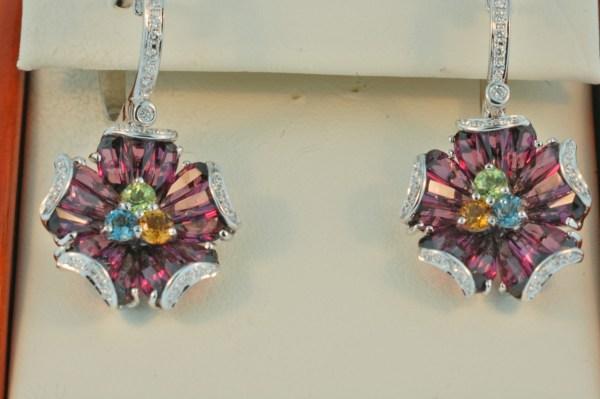 bellari garnet earrings 1986