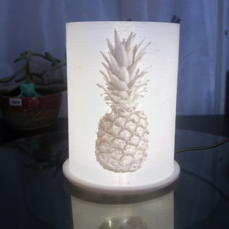 Pineapple Lithophane Lamp