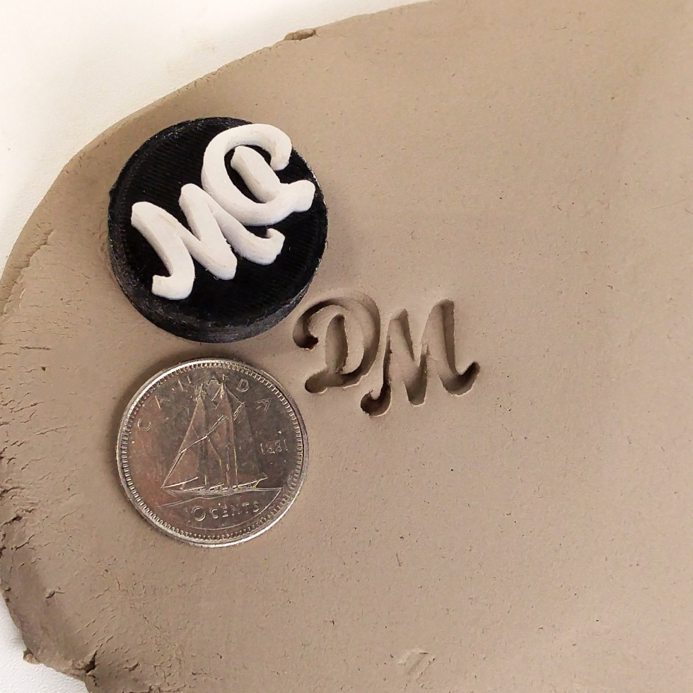 3D Printed Stamp For Pottery