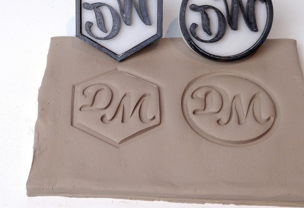 3D Printed Personalized Stamps For Pottery
