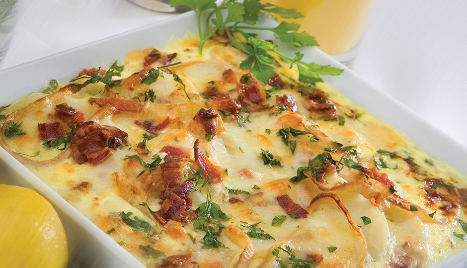 Bacon, Potato & Onion Frittata