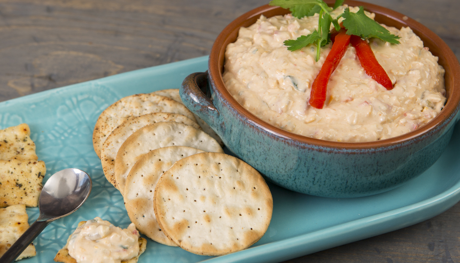 Southwest-Style Cheddar Pimento Cheese