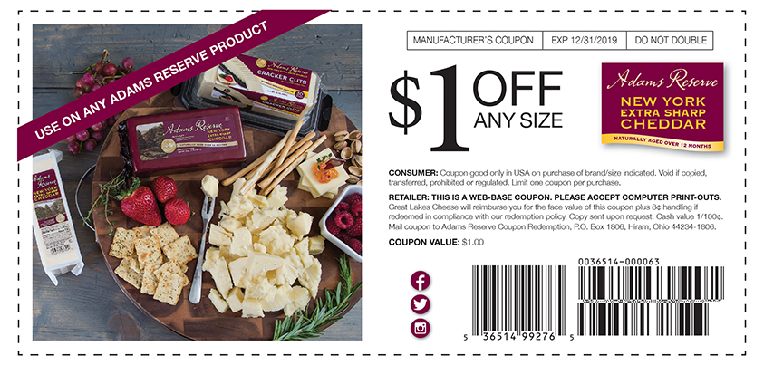 photo about Cheddars Coupons Printable titled Promotions Adams E-book Contemporary York Far more Sharp Cheddar Cheese