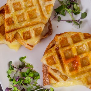 Waffled Grilled Cheese Sandwich