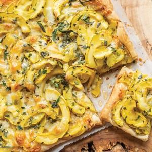 Fall Squash, Sweet Onion & Cheddar Tart