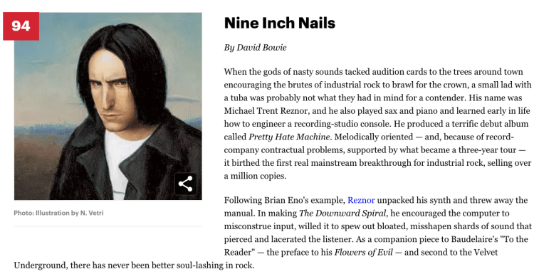 Trent Reznor Rolling Stone Nine Inch Nails