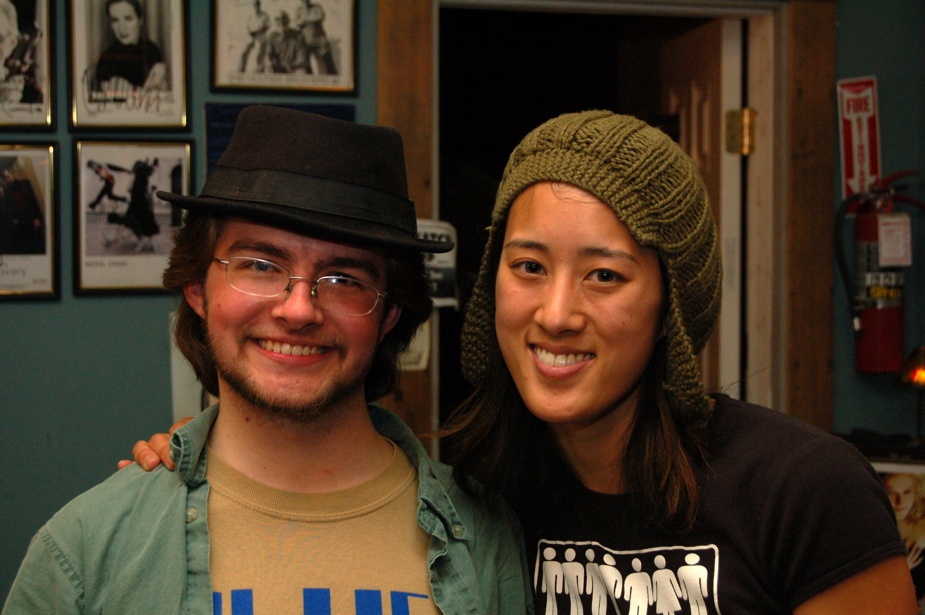 Adam with Vienna Teng at Mississippi Studios in 2007