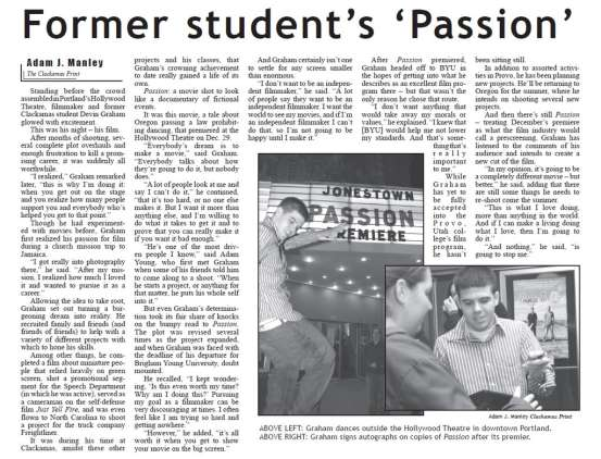 This article as it appeared in The Clackamas Print.
