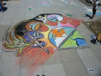 Adam produced this chalk piece for Gig Harbor's Chalk the Walk 2010.