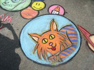 A section of Adam's Chalk the Walk 2009 piece. Photo by Andrea Trenbeath (UnstableArt.com).