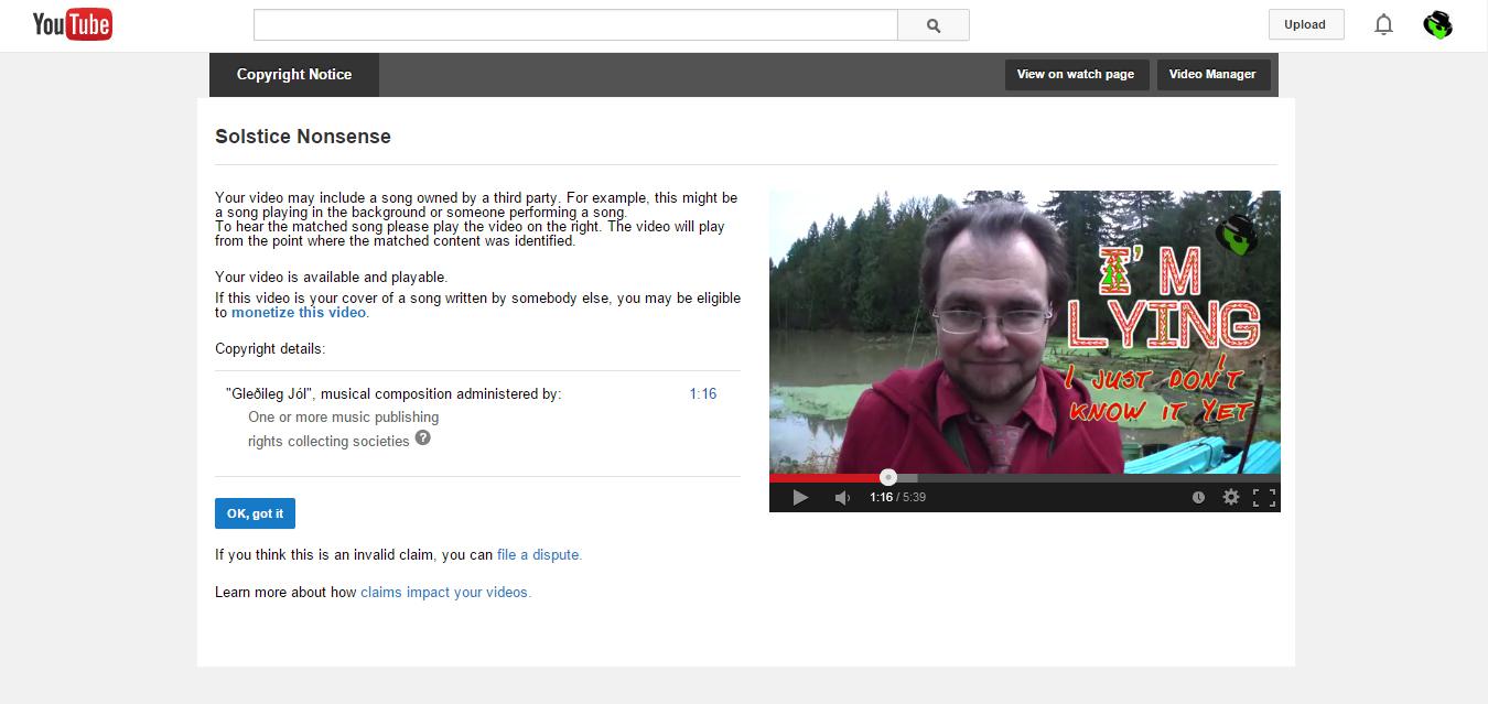 2014-12-22 Solstice Nonsense copyright claim already crop 1