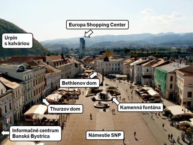 banska bystrica horehronie pohronie stredne slovensko hodinova veza namestie snp