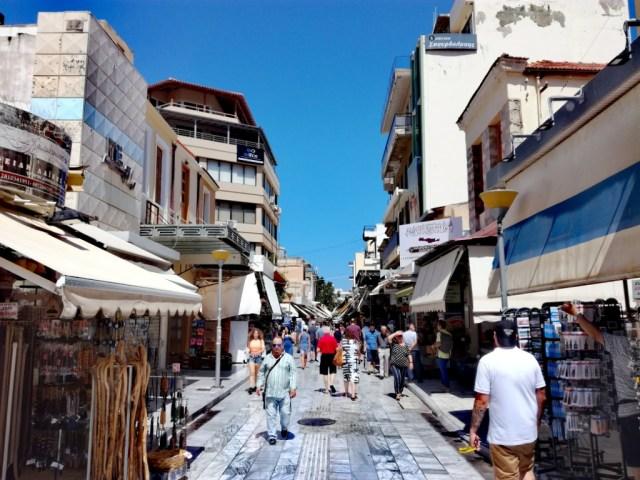iraklio iraklion heraklion kreta grecko tradicny trh