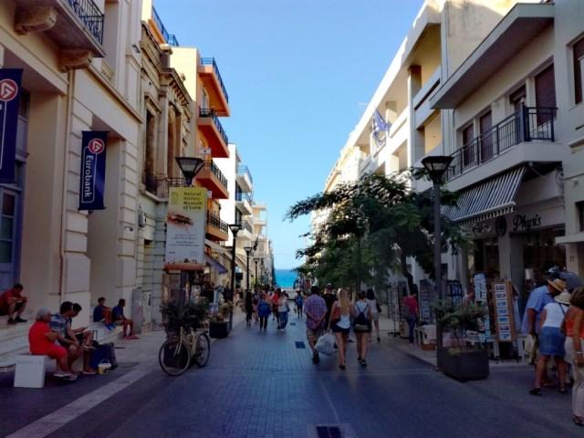 iraklio iraklion heraklion kreta grecko ulica 25 augusta