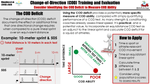 How to Evaluate Change-of-Direction Ability: Using the COD Deficit